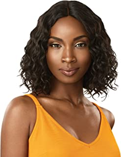 Outre Unprocessed Human Hair Wig The Daily Lace Part Wig Curly Bob 12