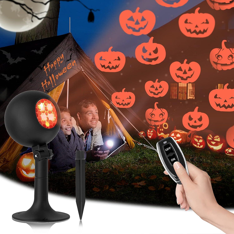 Halloween Lights Outdoor Pumpkin New Max 75% OFF popularity Light Indoor Projector Holiday