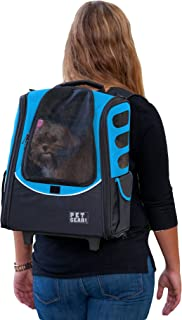 Pet Gear I-GO2 Roller Backpack, Travel Carrier, Car Seat for Cats/Dogs, Mesh Ventilation,..