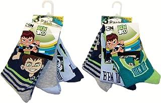 Pack de 6 calcetines Ben10 para niños, niños y niñas de diferentes tamaños, coloridos (31/34)