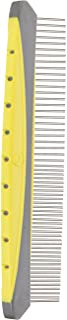 "JW Gripsoft Rotating Comfort Comb Fine & Coarse 8"" (20cm), Grey/Yellow"