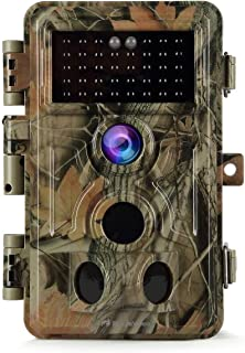 Game Trail Camera No Glow 20MP 1080P H.264 MP4/MOV Video Night Vision 0.1S Trigger Motion Activated Easy Operate Waterproo...
