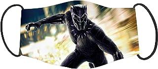 Vista Super Hero Black Panther Printed Mask for Kids -Cotton Reusable Washable Mask Size 18x10cms