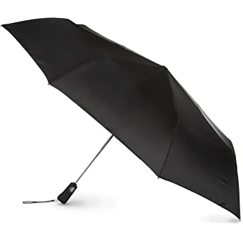 totes Automatic Open Close Large Canopy Golf Umbrella, Black