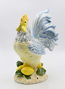 Cosmos Gifts Lemon Hill Rooster Figurine, Multicolored