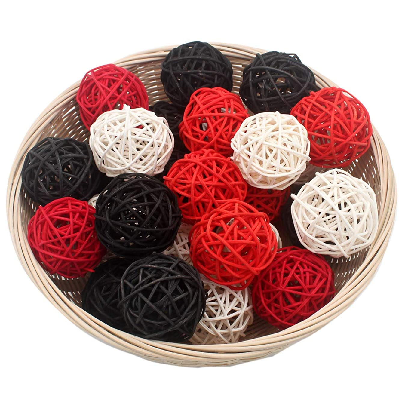 Set of 15 Mixed Black Red White 2
