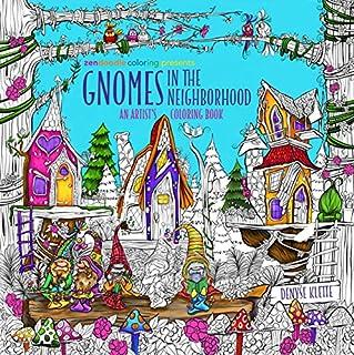 Zendoodle Coloring Presents Gnomes Neighborhood