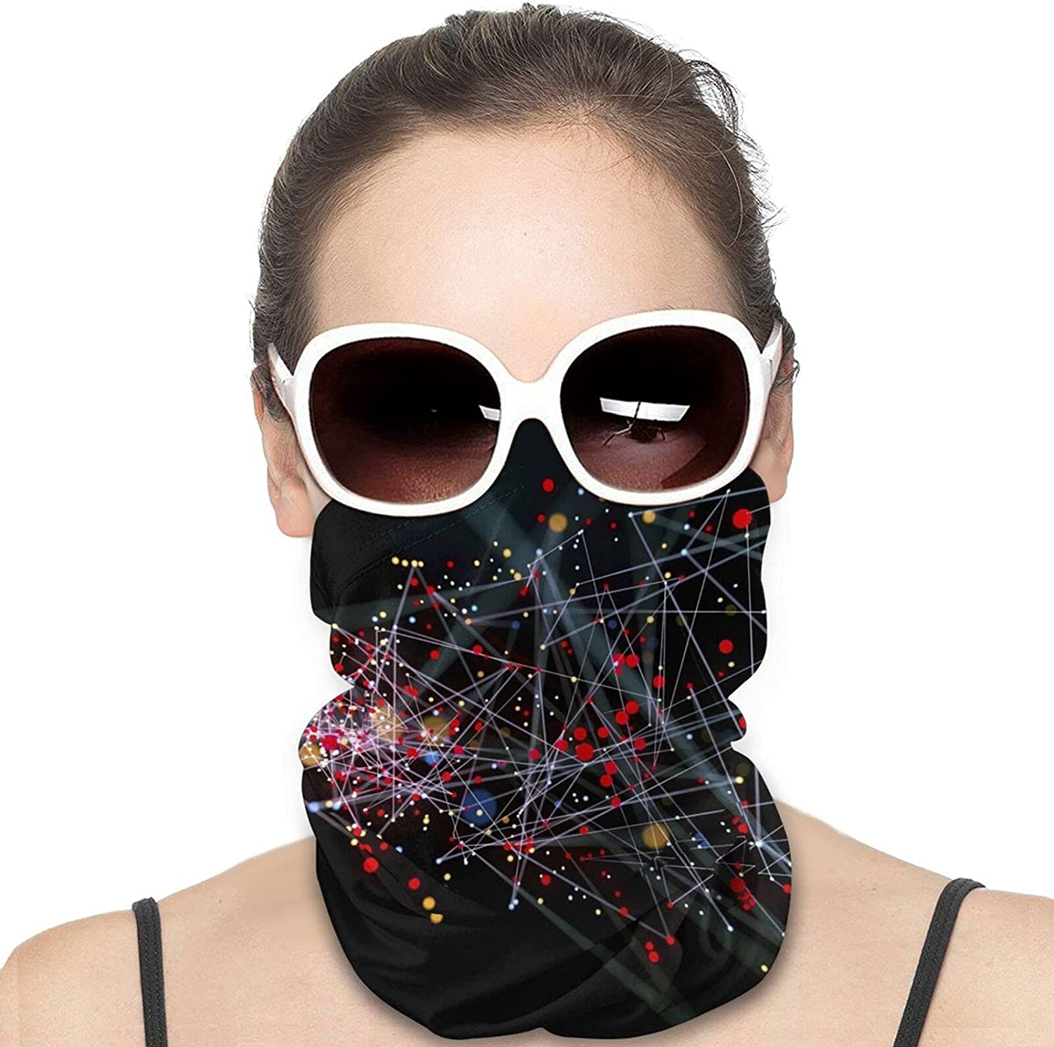 Digital Simple Dark Background Unisex Neck Gaiter Face Mask Mans Woman'S Multifunction Balaclava Face Cover,Cycling Mask,Sport Neck Gaiter,Hiking Scarf,Fishing Mask, Motorcycle Face Cover