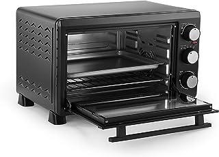 L.TSA Mini Horno eléctrico 30L de Cocina - Función de cocción múltiple y Parrilla, Control de Temperatura Ajustable, Temporizador - Negro