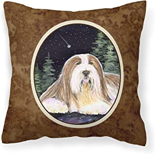 Caroline's Treasures SS8529PW1414 Starry Night Bearded Collie Fabric Pillow, Large, Multicolor