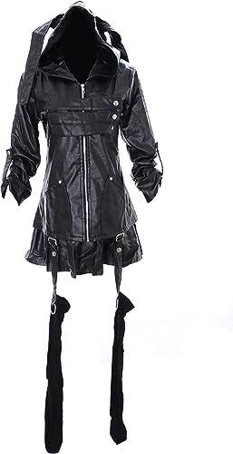 caliente Kawaii-Story MN DE 26Tokyo Ghoul TOKA-VERSAND TOKA-VERSAND TOKA-VERSAND Kiri Shima negro Piel Sintética Punk Gótico Disfraz Juego Chaqueta Cosplay  marca en liquidación de venta