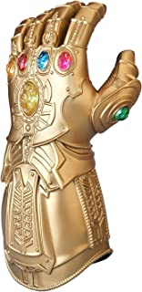 ZealBoom Infinity War Thanos Gauntlet for Child, LED Light Up Glove Cosplay Costume Props Accessories with 6 Colored Gems ...