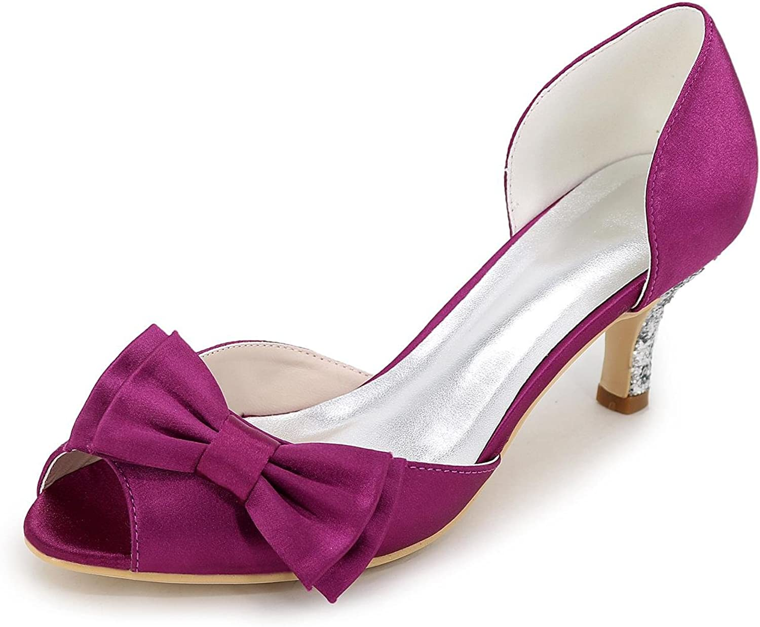 Women's High Heels Spring Summer Autumn Silk Wedding shoes Evening Party & Low with Multi-color Large Yards