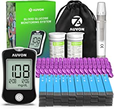 AUVON DS-W Blood Sugar Kit (No Coding Required), High-Tech Diabetes Blood Glucose Meter with 150 Test Strips, 50 30G Lance...