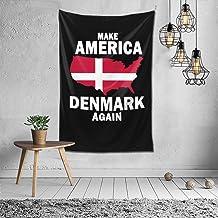FHDSF Make America Denmark Again Tapiz de Pared Tapices de Pared Decoración de Pared Tapiz Hippie para Sala de Estar Dormitorio Multi 60x40 Pulgadas