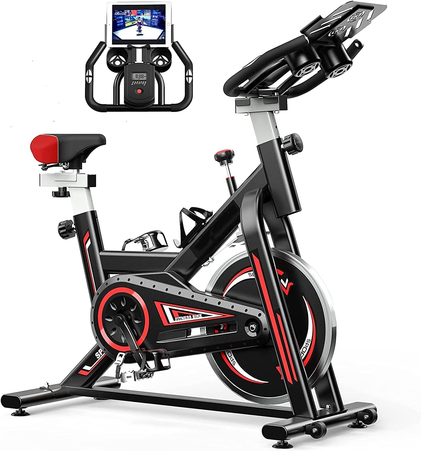 FUNCYIDO Bike for Ranking TOP8 Indoor Riding Steel Monitor Sales with Carbon LCD