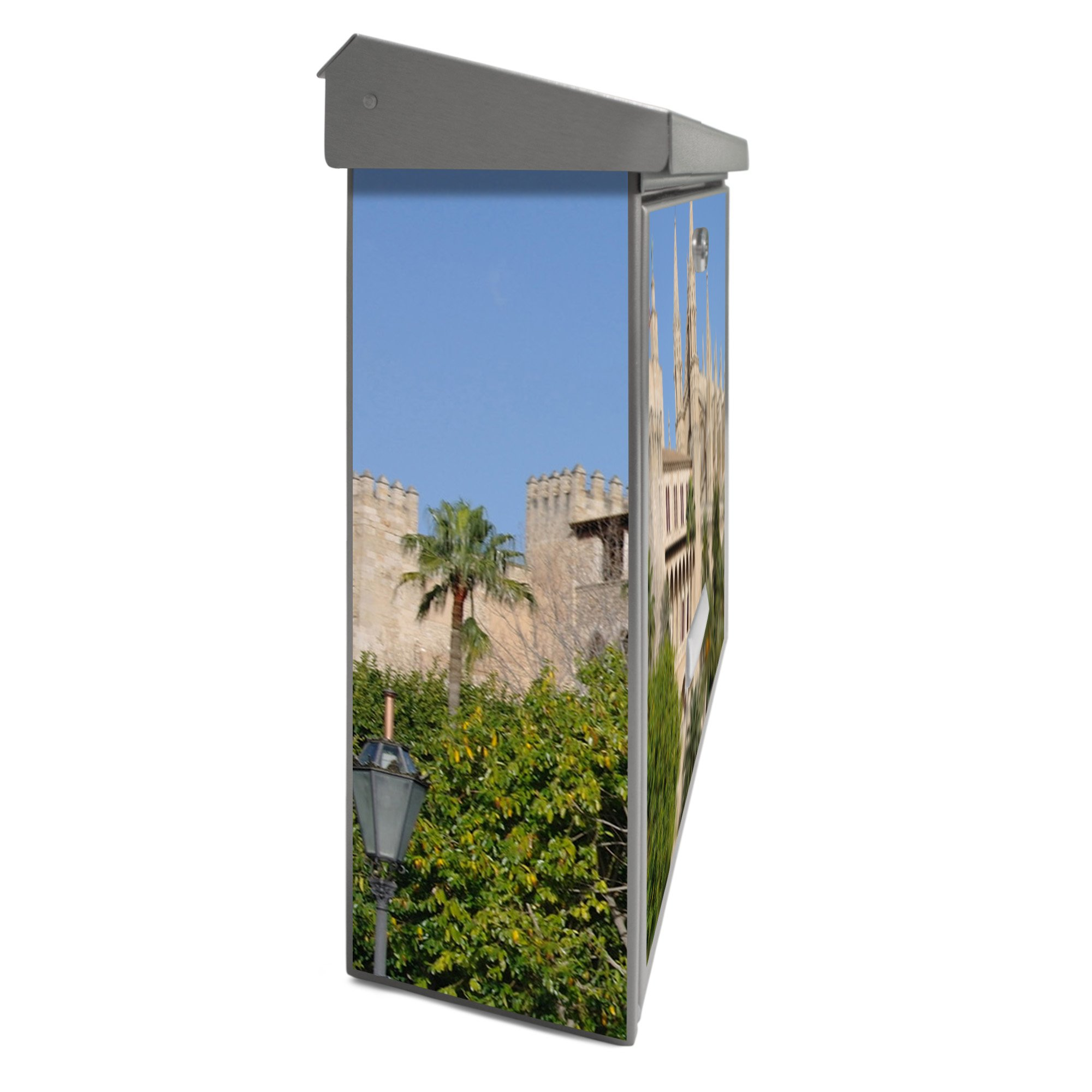 Burg-Wächter buzón de acero inoxidable con placa para nombre y diseño: palma de Mallorca: Amazon.es: Hogar