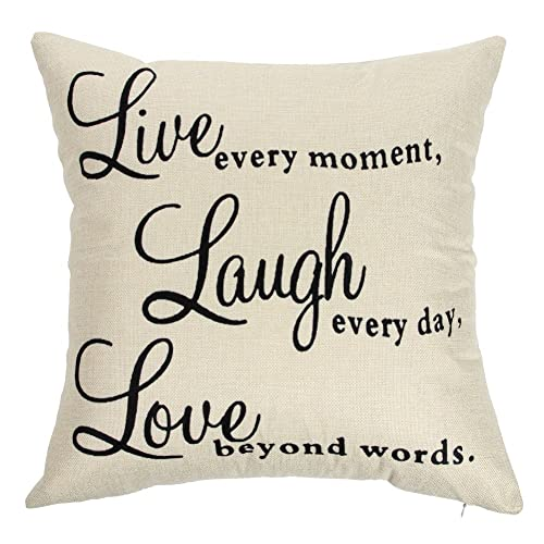Live Love And Laugh Throw Pillows For The Couch Amazon Com