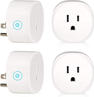 Hyperikon Smart Plug WiFi Outlet, Mini Smart Socket, 1200W Echo Outlet, Alexa and Google Assistant Compatible, No Hub Required, Scheduling, Remote Control (4-Pack)