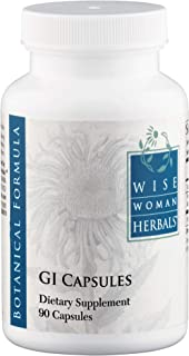 Wise Woman Herbals – GI Capsules – 90 Capsules - All-Natural Supplement for Digestion Support, Promotes Healthy Intestinal Function, Gastrointestinal Health Aid, Soothes and Protects Gut Lining