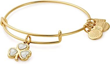 Alex and Ani Women's Charity by Design Crystal Shamrock Bangle Bracelet