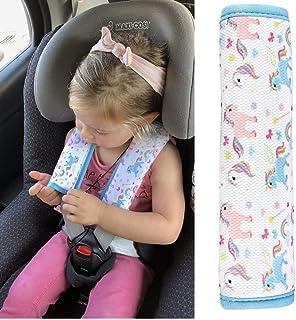 1x HECKBO Auto Einhorn Mädchen Gurtschutz Schulterpolster Gurtschoner Schulterkissen Autositze Gurtpolster für Kinder & Erwachsene