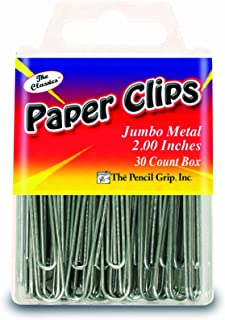 The Pencil Grip Jumbo Paperclips 2-inch, Multi-Colour, 1.94 x 5.47 x 9.15 cm