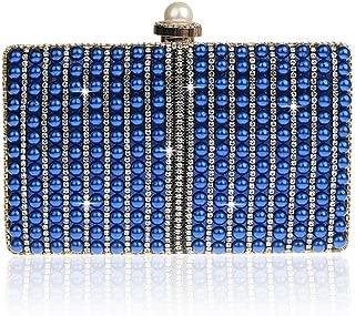 Redland Art Women's Fashion Sparkly Mini Clutch Bag Wristlet Evening Handbag Catching Purse Bag for Wedding Party (Color : Blue)