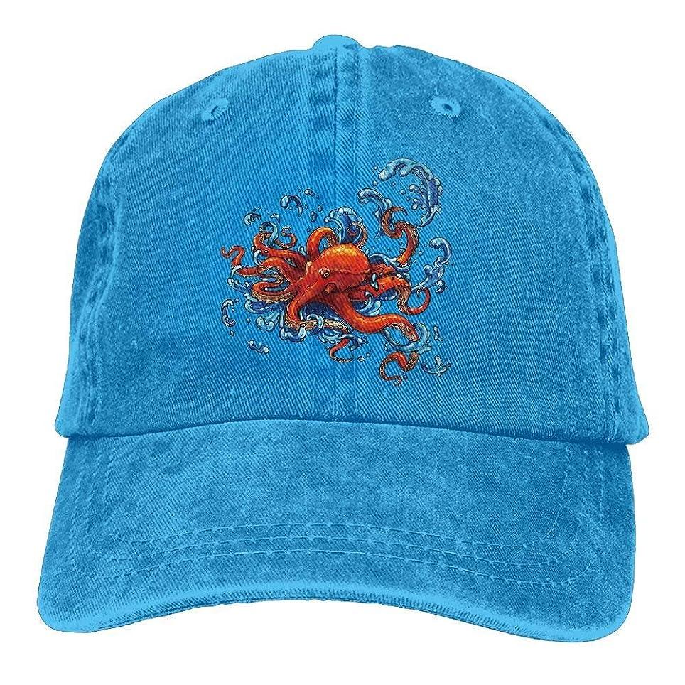 批判的未払いポーズタコデニム野球帽帽子男性女性のための調節可能な綿スポーツストラップキャップ