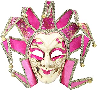 Sponsored Ad - Hophen Pink Jester Masquerade Mardi Gras Venetian Mask Wall Decorative Art Collection Nine Angles