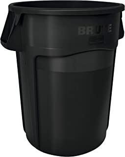 Rubbermaid Commercial Products FG264360BLA BRUTE Heavy-Duty Round Trash/Garbage Can, 44-Gallon, Black