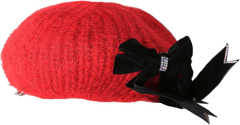 FADA Wool Felt Solid Berets Women French Beret Fashion Caps Winter Beanie Beret Xmas Gift