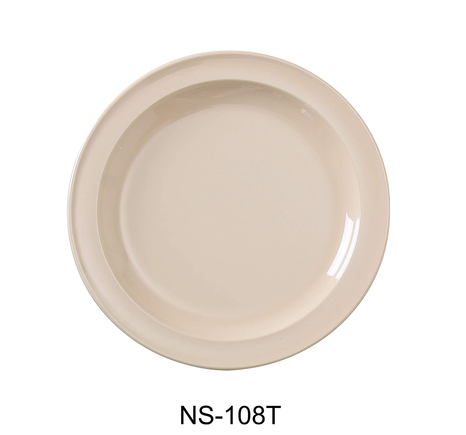 Yanco NS-108T Nessico Round Dinner Max 90% OFF Plate Large-scale sale Melamine 8