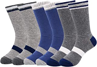 Toddler Baby Boys Basic Athletic Rib Crew Soft Dress Cotton baseball Socks,2-4T&5-8T (6-Pack)