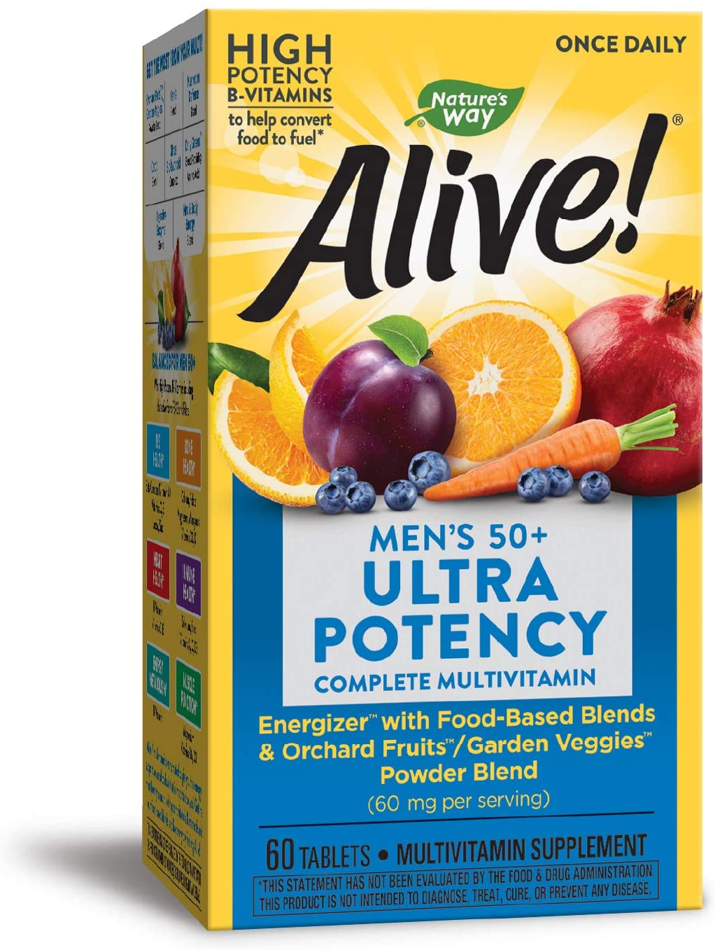 Nature's Way Max 69% OFF Alive Once Daily Max 88% OFF Men's 6 50+ Tablets Potency Ultra