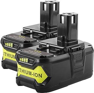 2Pack RB18L40 18V 4.0AH Li-ion Battery for Ryobi BPL-1815 BPL-1820G BPL1820 BPL18151 P102 P103 P200 P210 Cordless Power Tools