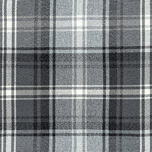 McAlister Textiles Angus   Stoff im Tartan-Muster kariert in Kohlengrau 140cm Breite   per Meter   Textil Material