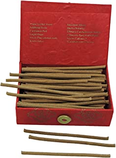 Hands Of Tibet Wisdom Bliss Incense in an eco-Friendly Lokta Paper Gift Box Handmade by Nuns (Wisdom Bliss, Rectangular Box)