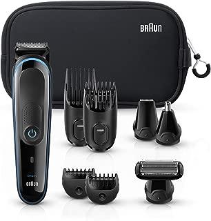 Braun Multi Grooming Kit MGK3980 Black/Blue – 9-In-1 Precision Trimmer for Beard & Hair Styling