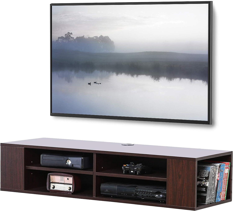 FITUEYES Floating TV Shelf Wall Virginia Beach Mall Entertainment Mounted Austin Mall Med Center