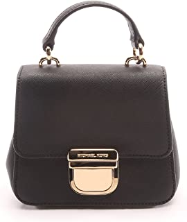 Michael Kors Black Bridgette Leather Mini Satchel Black