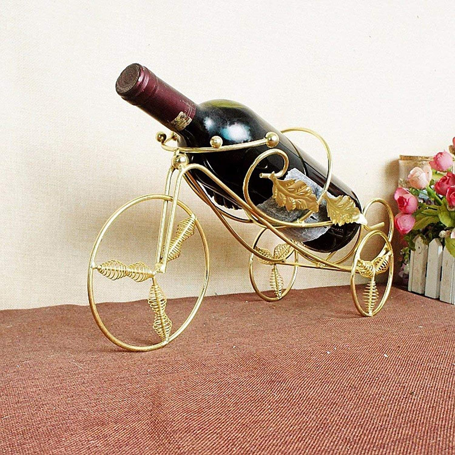 Wine Stainless Steel Bronze Decoration Gift Tricycle Style,A (color   B, Size   -)