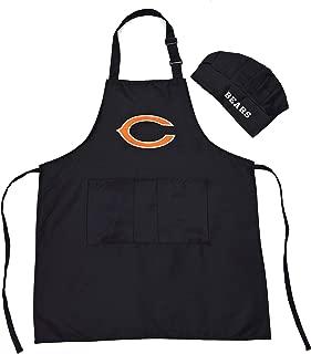 MT-Sports Store Team Logo Apron Chef Hat Set Adjustable Apron Chef Hat One Size