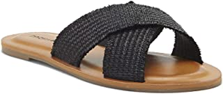 Lucky Brand Women's LORAI Flat Sandal, Black, 7.5