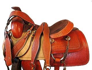 15 16 17 Premium Tooled Trail Roping Roper Horse Saddle Western Leather Pleasure