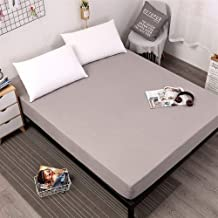 AUXCHENGFCAU Solid Color Mattress Cover, Elastic Waterproof Mattress Protection Pad Sheets Separated Water Mattress (Color...