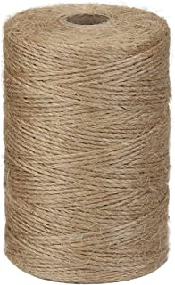 Tenn Well Natural Jute Twine, 984 Feet 2Ply Brown Twine String for Crafts, Gift Wrapping, Crocheting and Gardening Applications