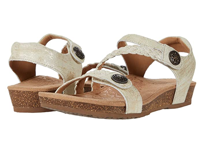 Aetrex  Jillian Quarter Strap (Gold 2) Womens Sandals