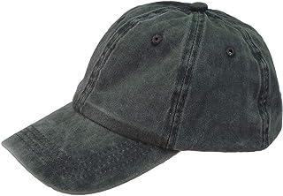 Flyme Denim Baseball Cap Retro Blank Baseball Hat Peak Cap for Women Men (Army Green)