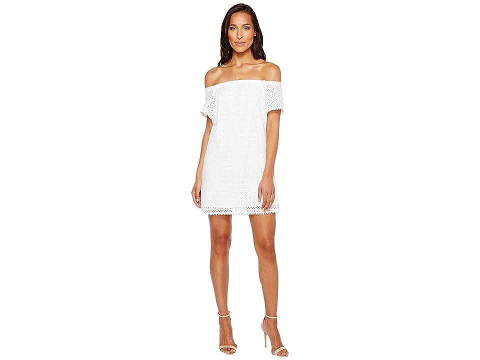 Michael Stars Eyelet Off the Shoulder Dress (White) Women